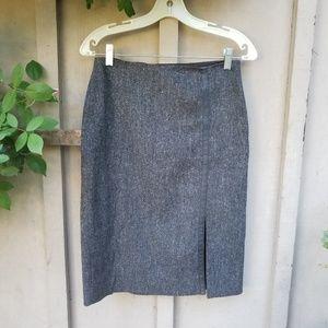 Club Monaco career formal gray tweed pencil skirt